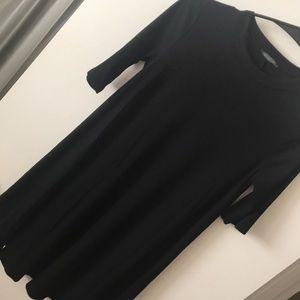 Dresses & Skirts - Black ribbed minidress